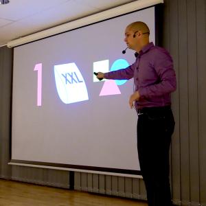 Sammanfattning av presentationsteknik -  1 budskap, stora objekt och tala i bilder